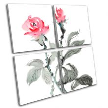Flowers Paint Style Floral - 13-1351(00B)-MP01-LO